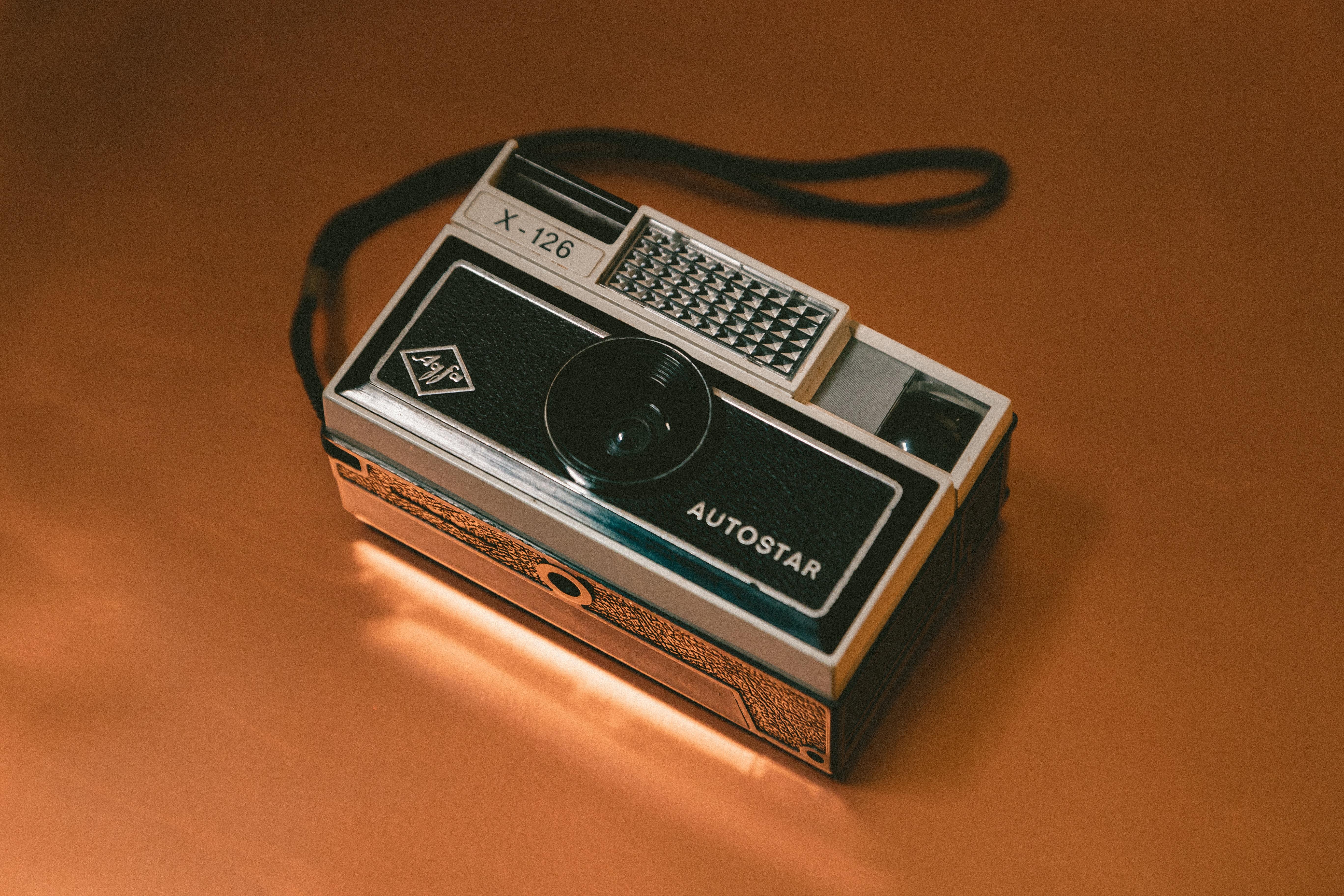 photo of gray and black X-216 camera