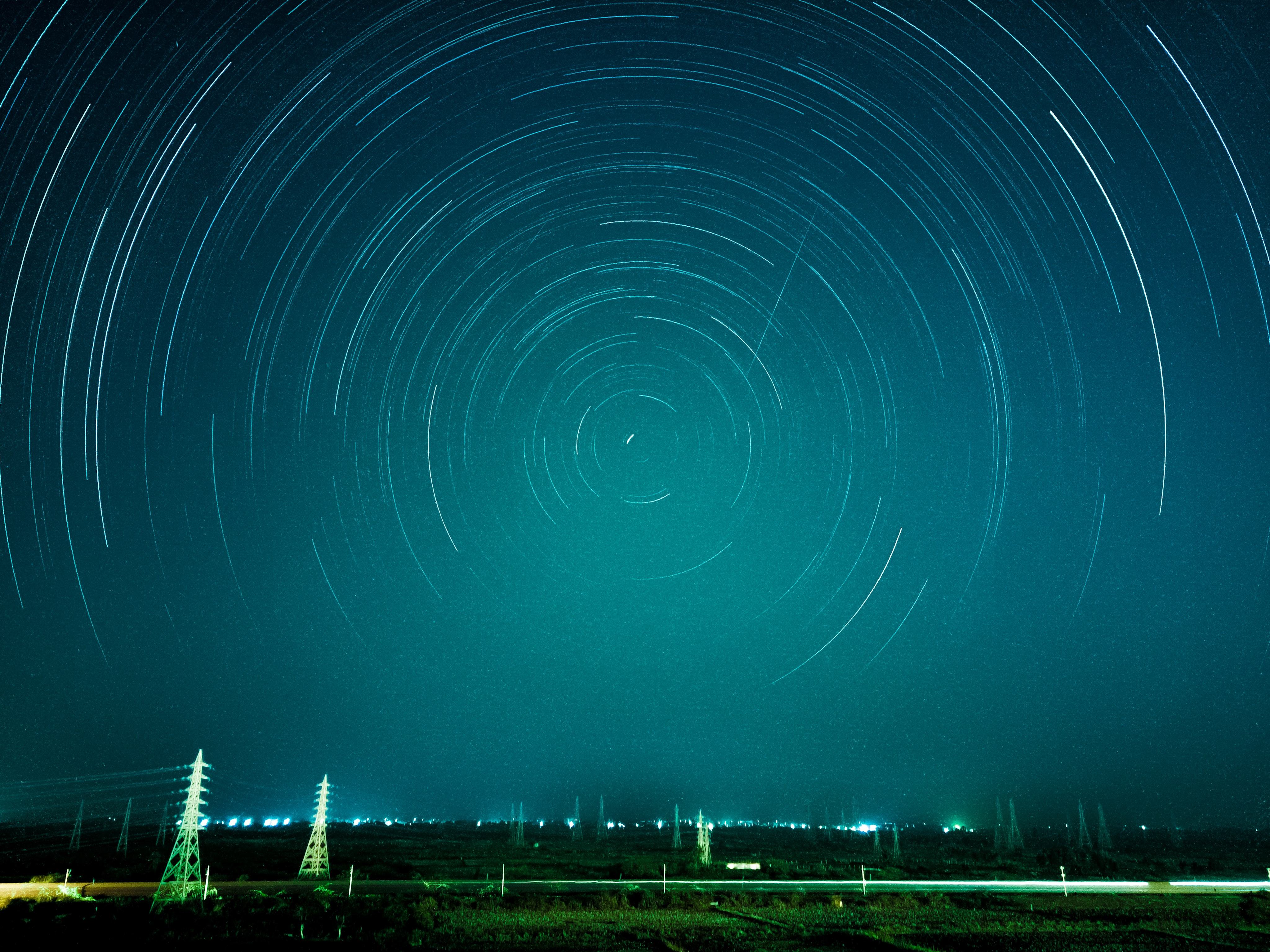 time-lapse photograph of stars