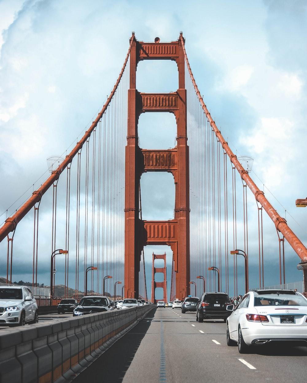 cars crossing in the bridge