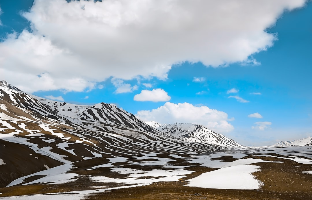 Changing landscape — Snow melting Bit for bit.