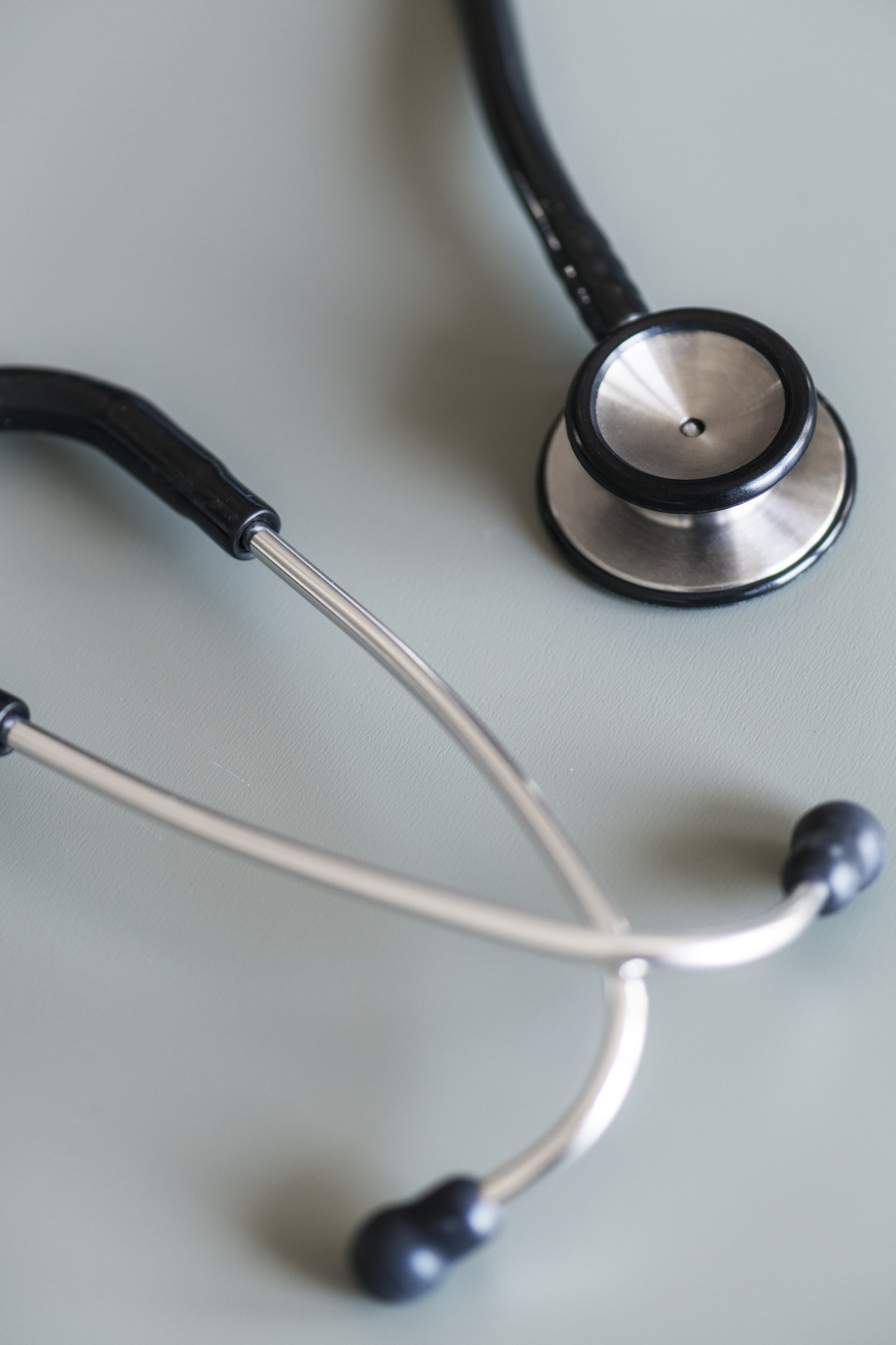 silver stethoscope