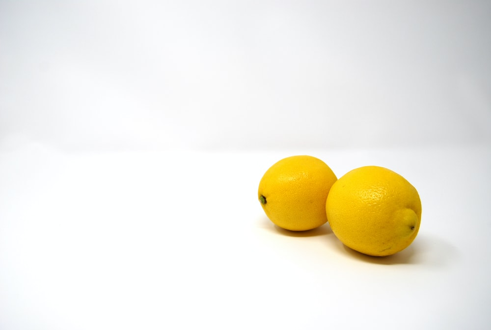 two yellow lemons