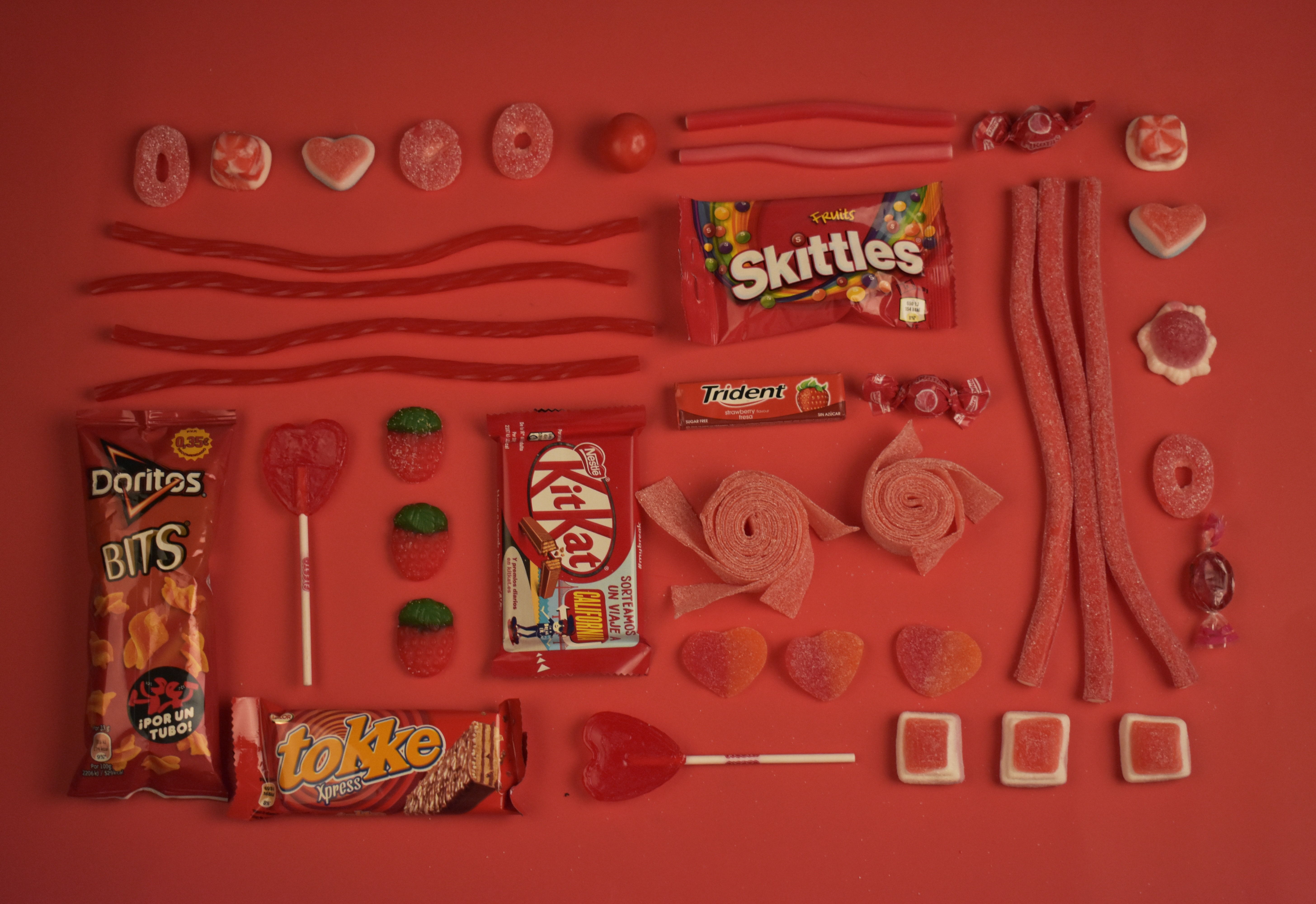 assorted candies and chocolate pack