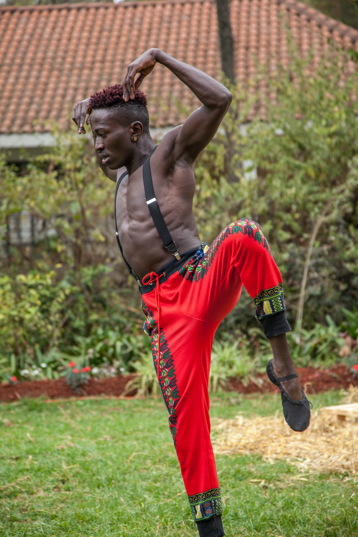 man doing martial arts