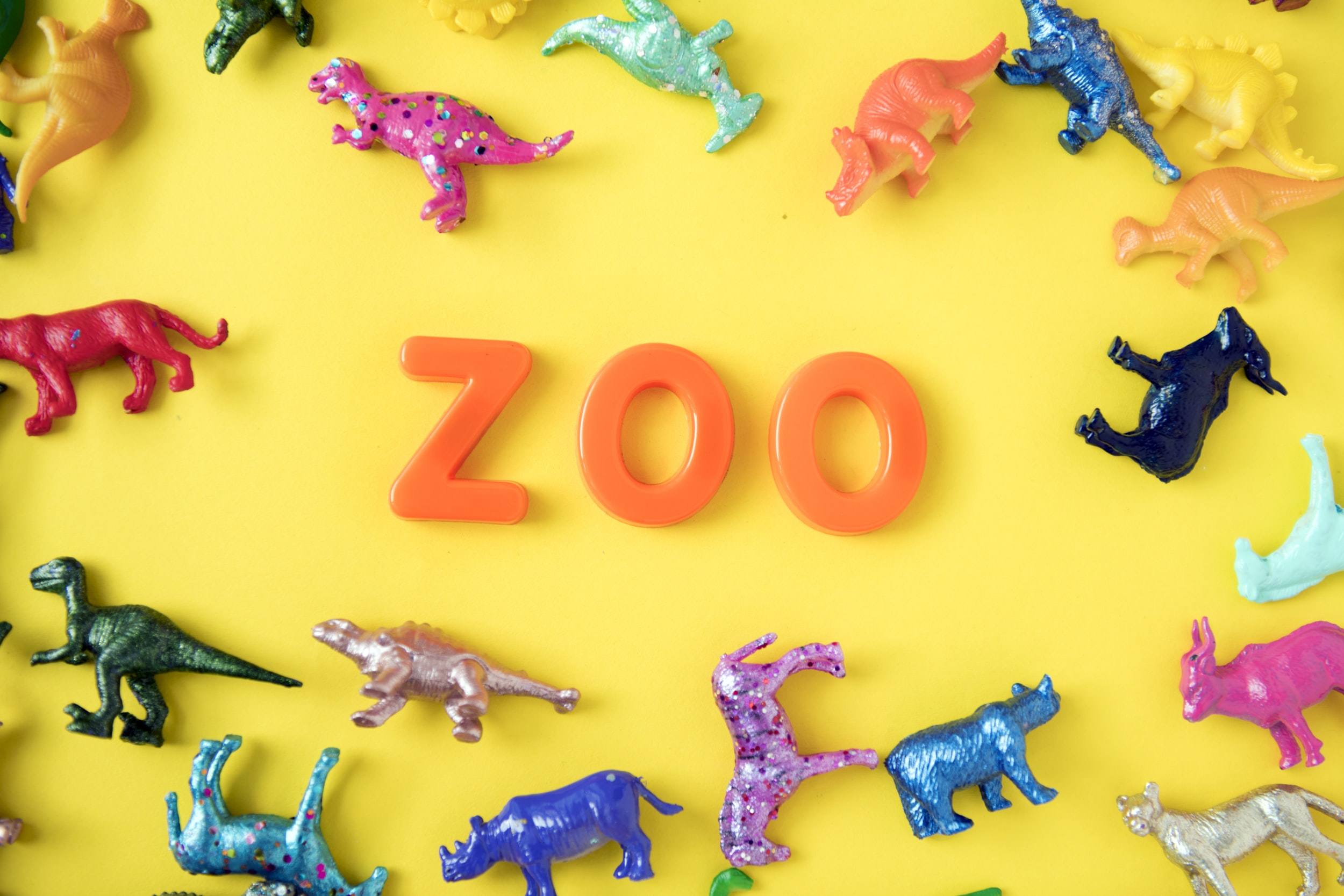 zoo animal plastic toy collection