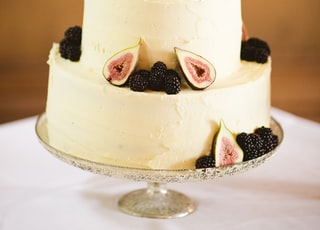 dragon fruit cake on top of table