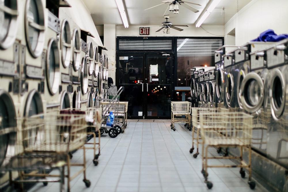 photo of empty laundy shop