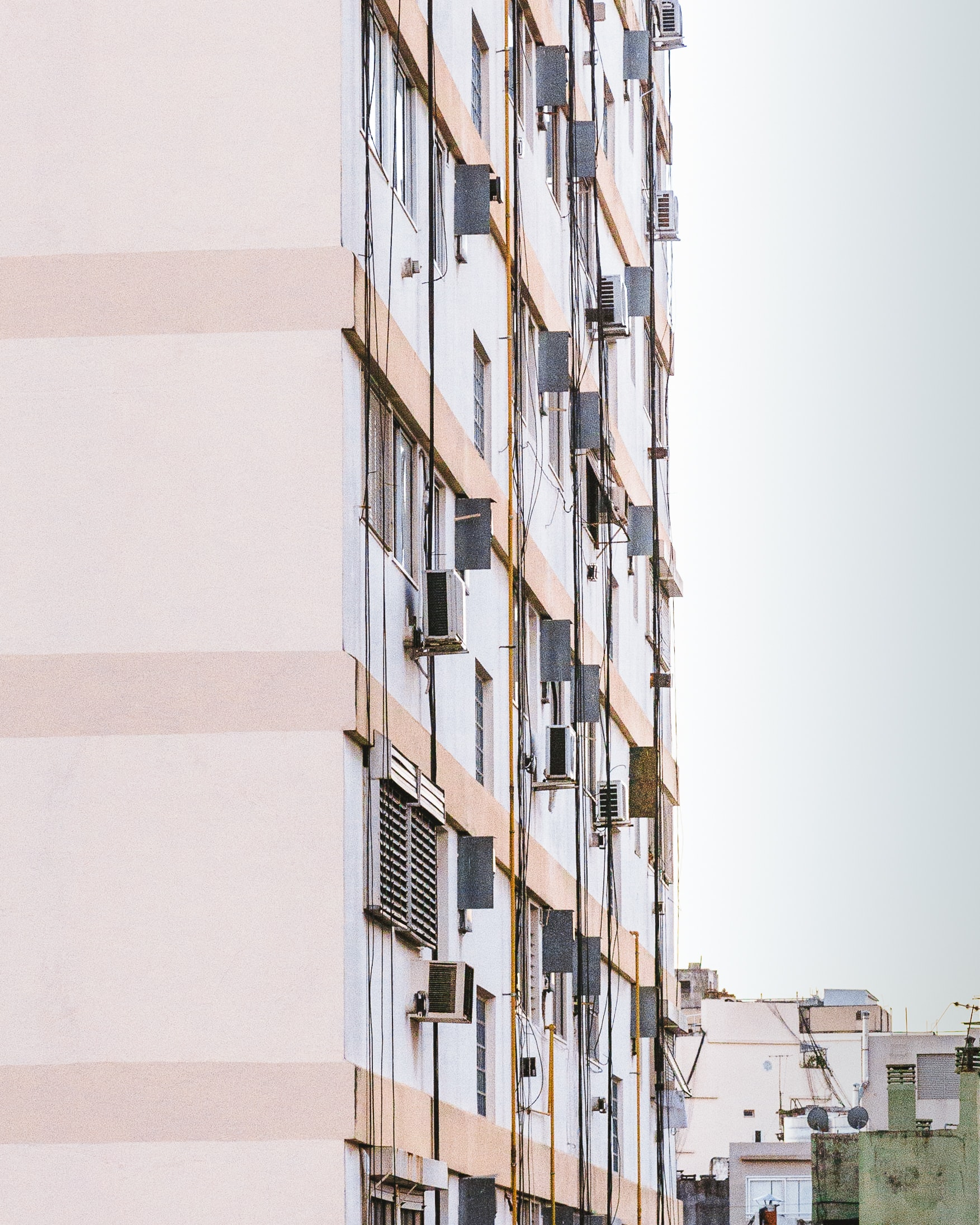 white and beige building facade