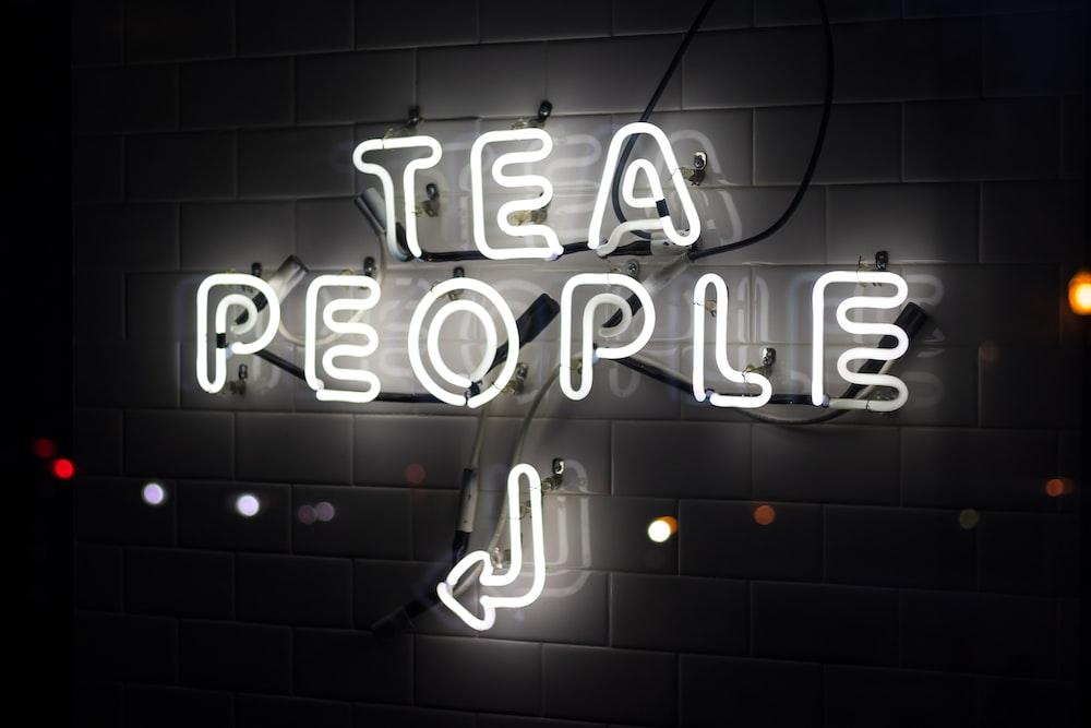 tea people neon signage