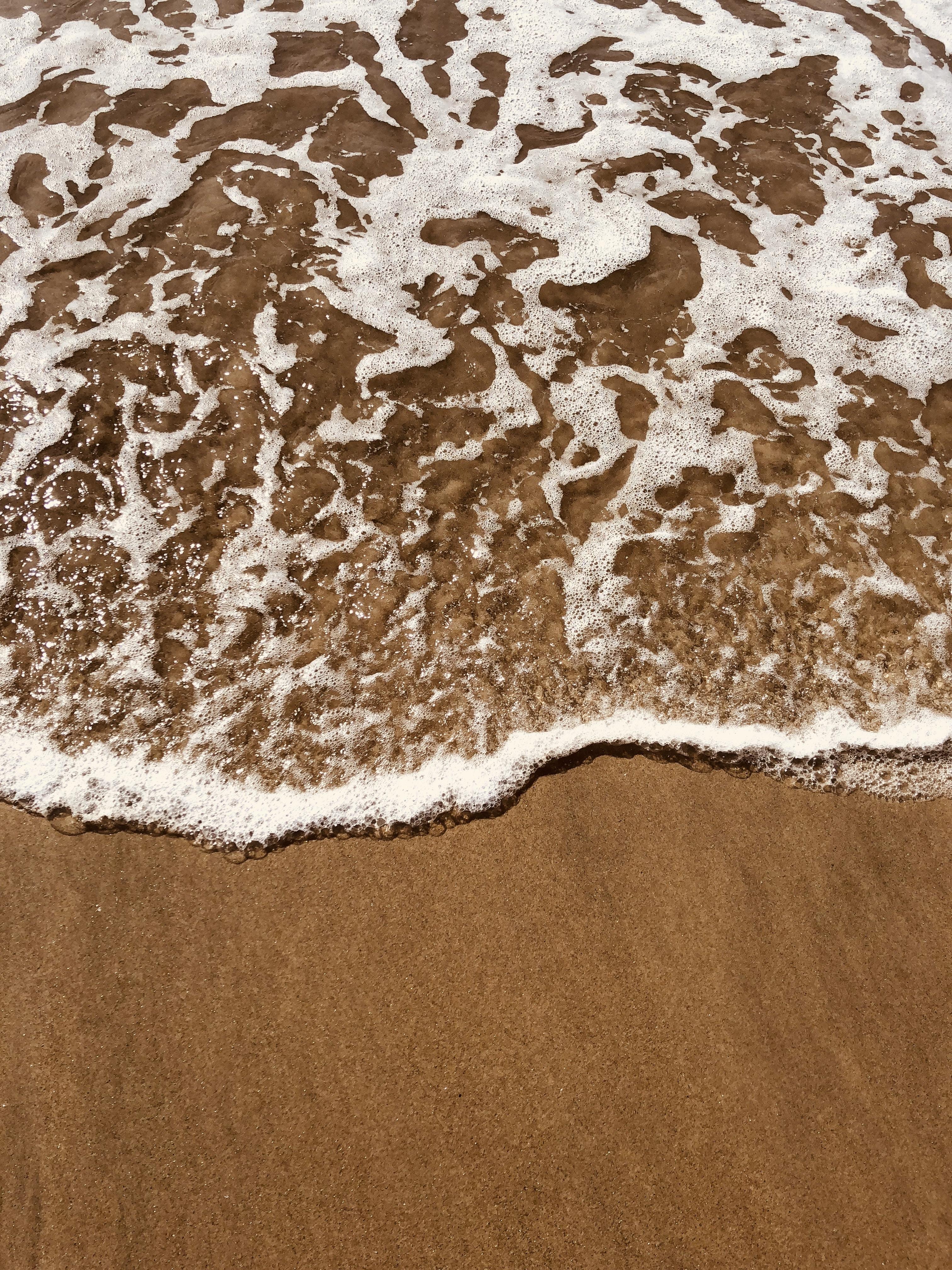 beach shore with ocean wave
