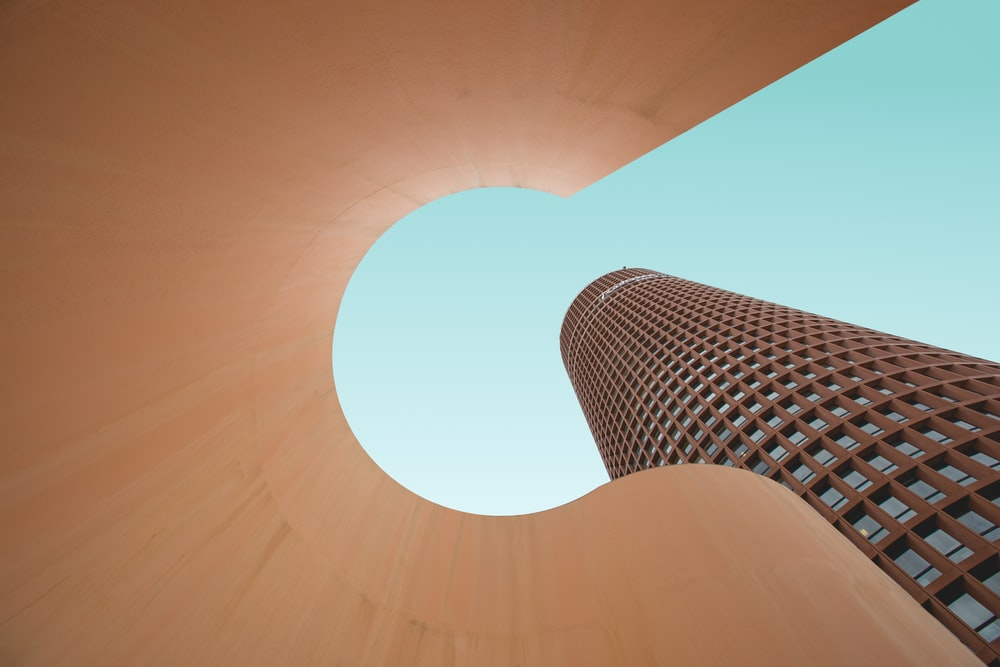 worm's eye view of tower