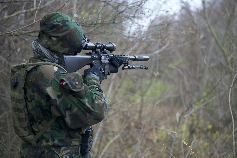 Person Holdingault Rifle