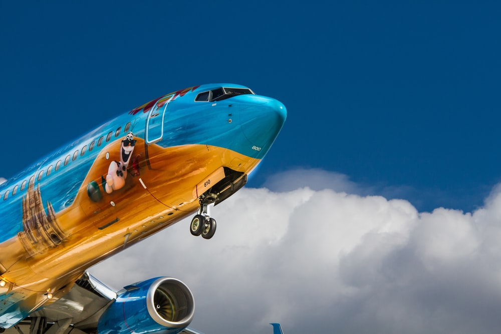 low angle photo of airliner plane