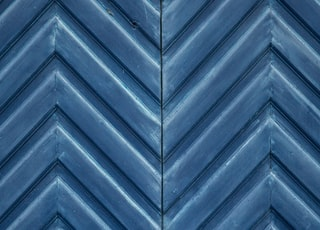 blue wooden chevron wall