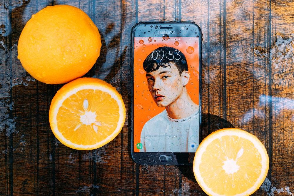 black Samsung Android smartphone