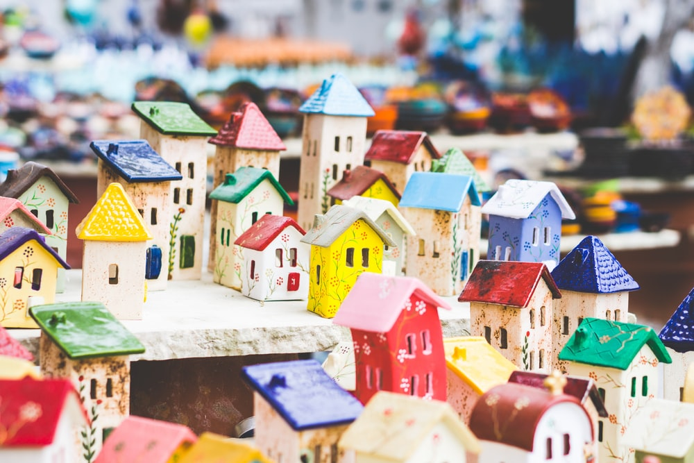 house miniature arrangement