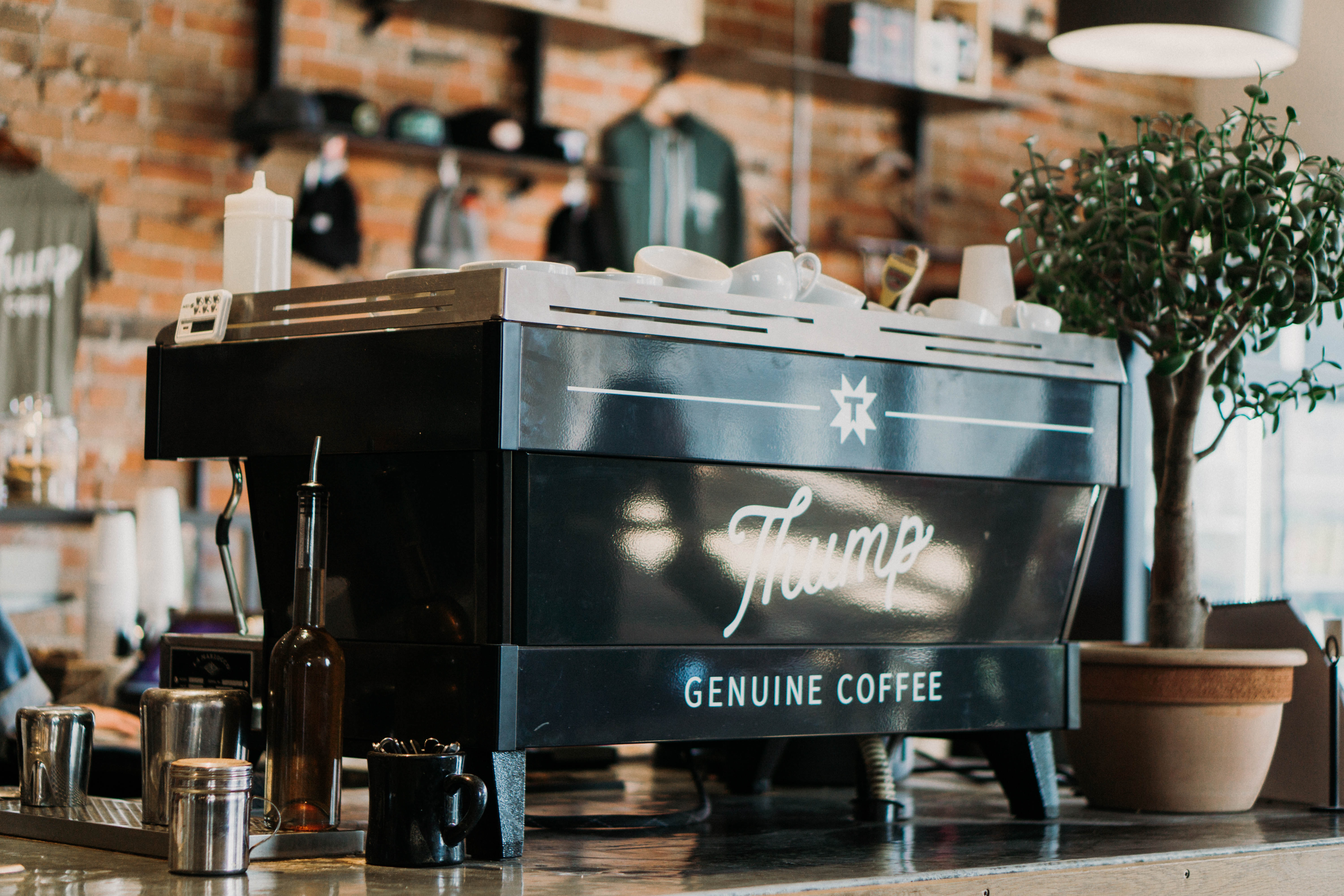 photography of Thump genuine coffee espresso machine