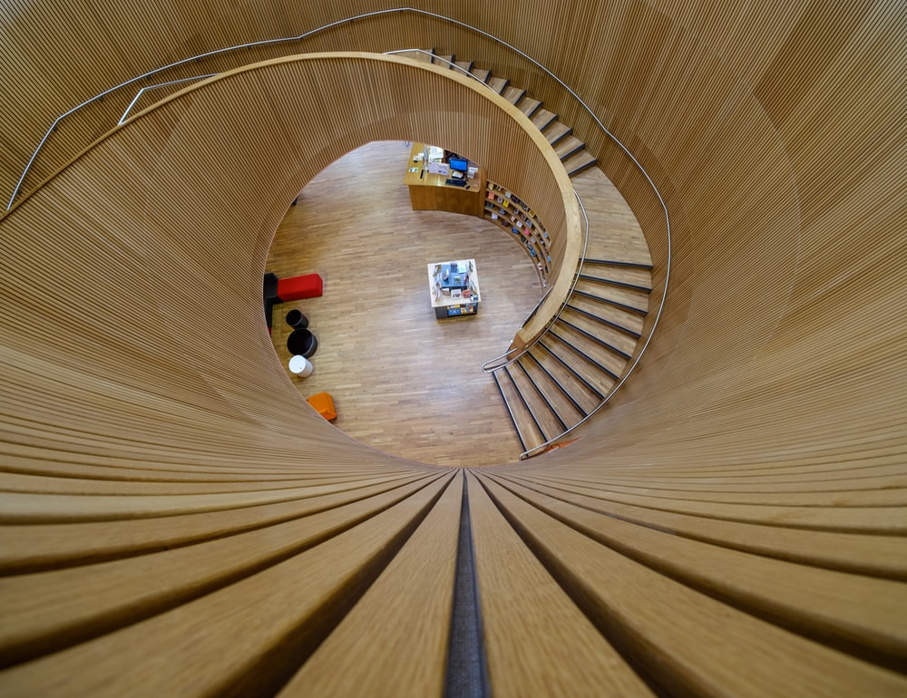 The spiral stairs at Canada Water lib    | HD photo by Kevin