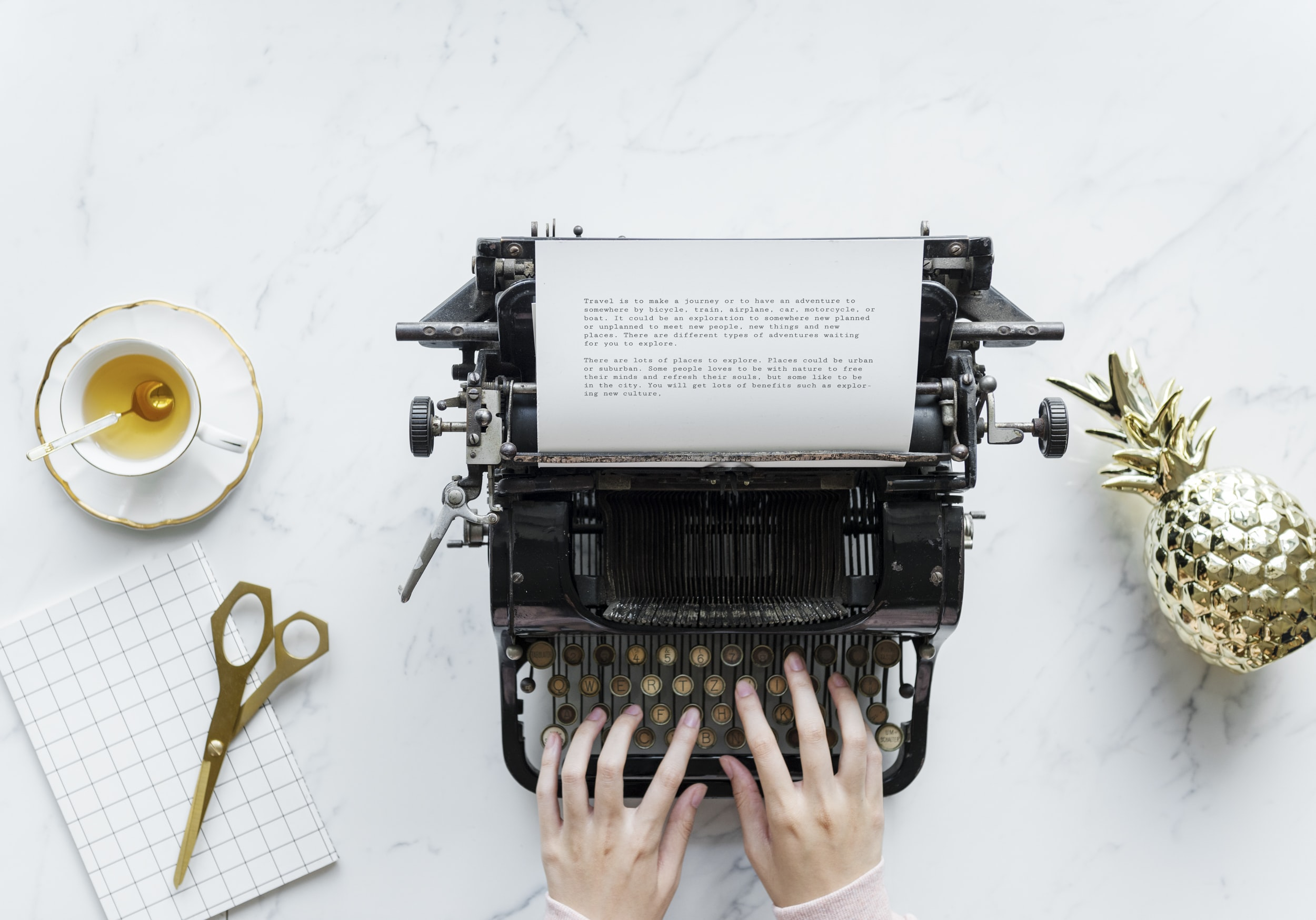 The Writer writing stories