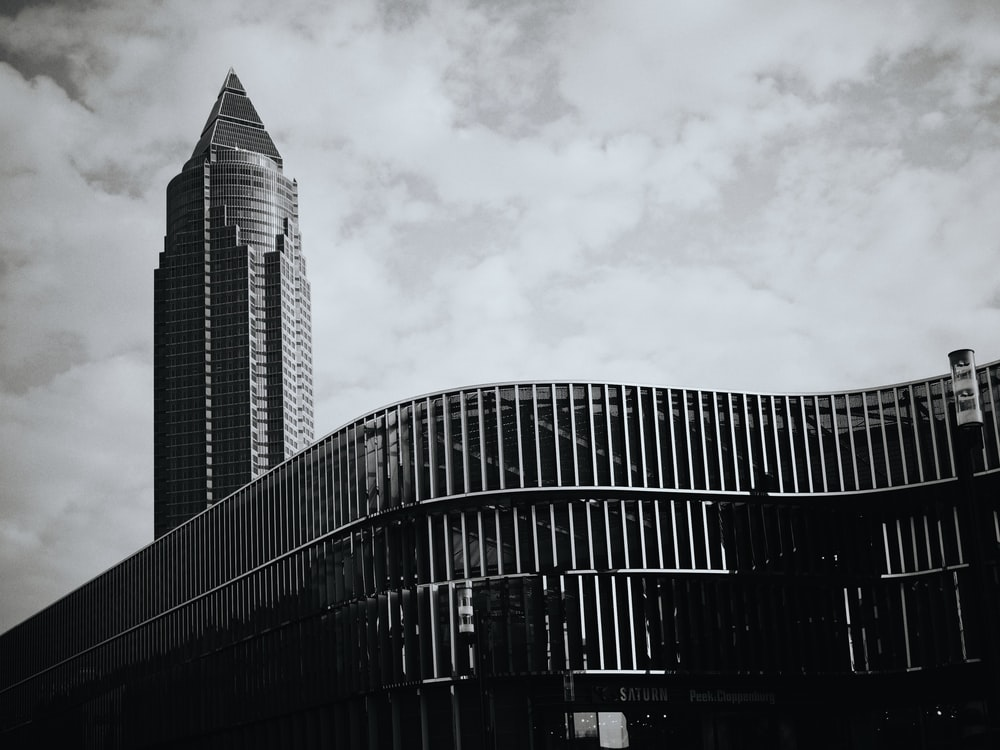 building landmark with clouds background