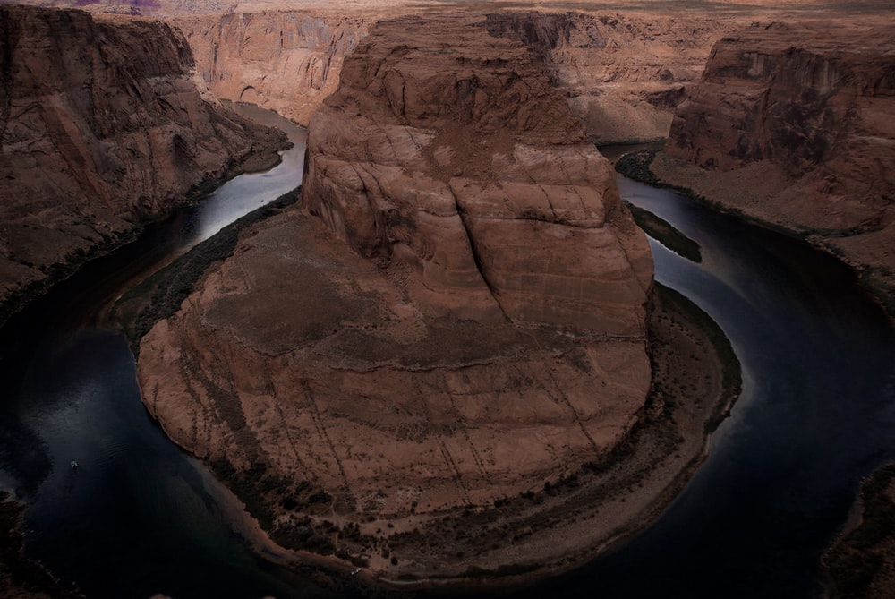 aerial view of Grand Canyon during day time