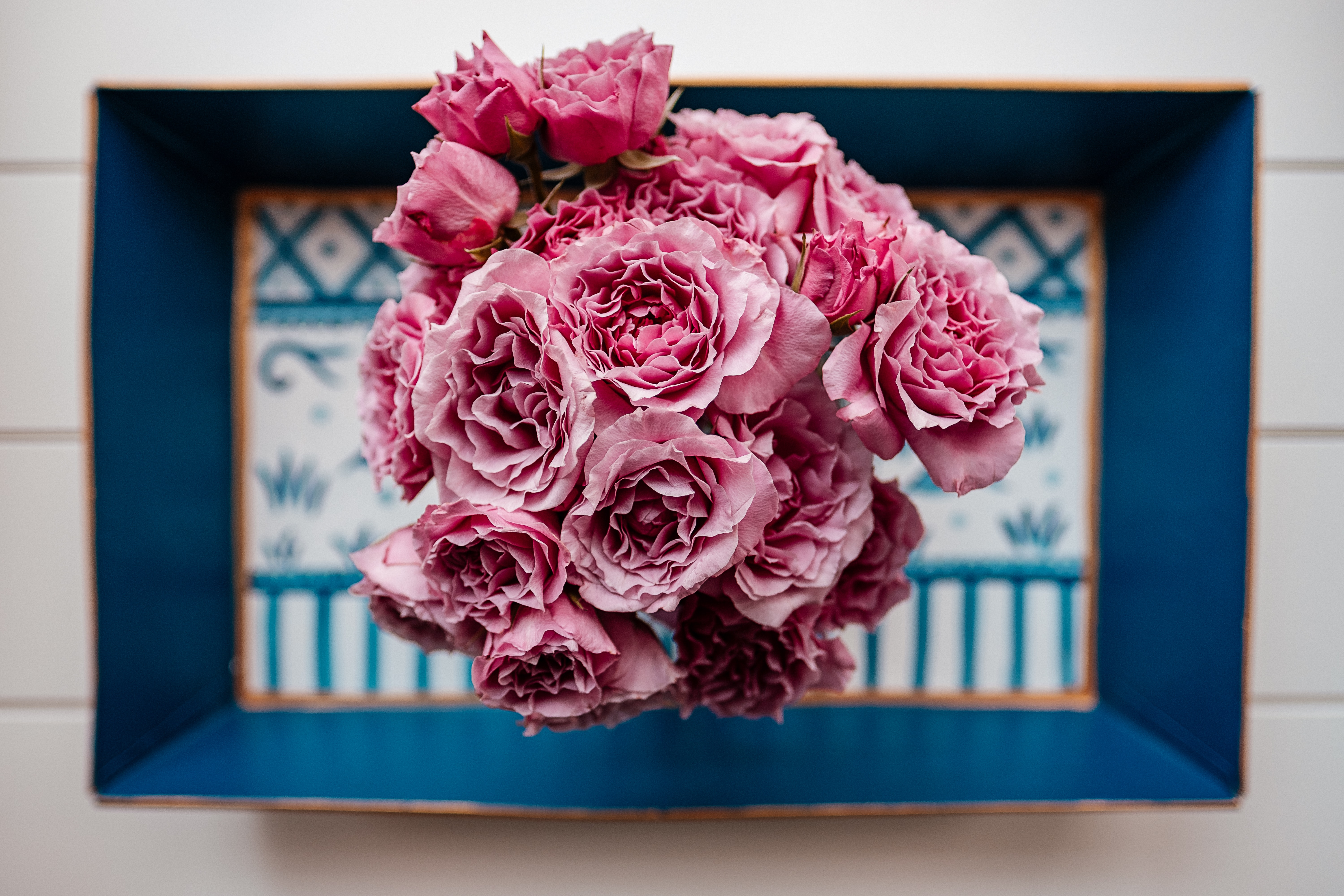 bouquet of pink rose flowers