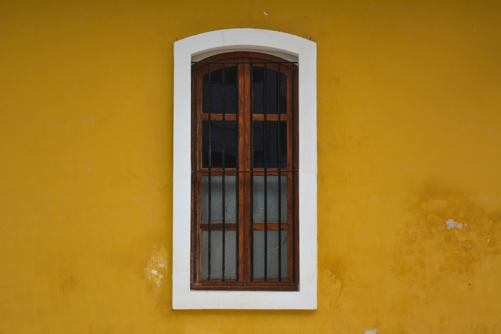 Closed Window On Wall Photo Free