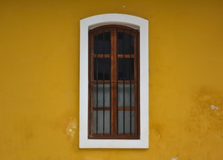 closed window on wall