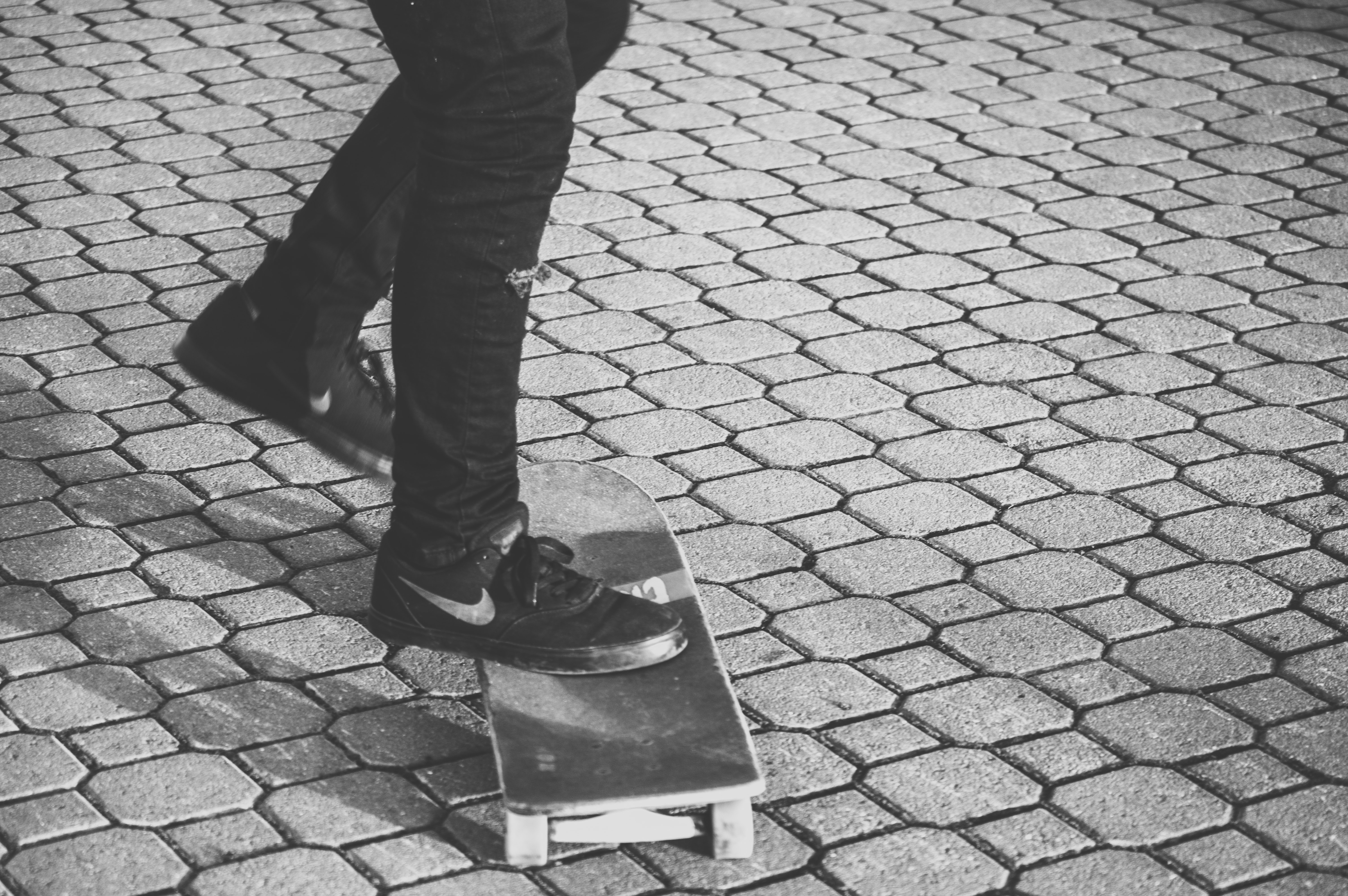 person about to ride his skateboard