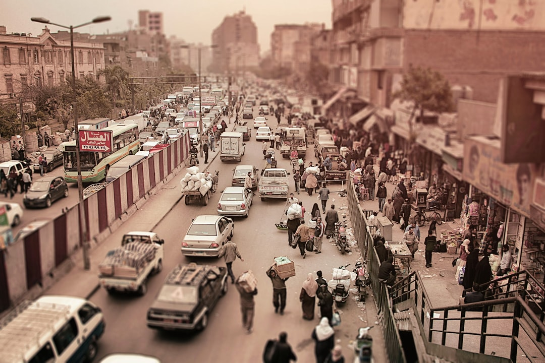 Self organizing life — street scene in Cairo.