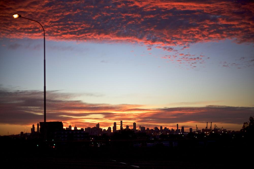 photo of city during sun set
