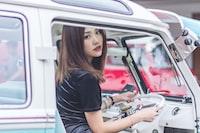 girl driving van