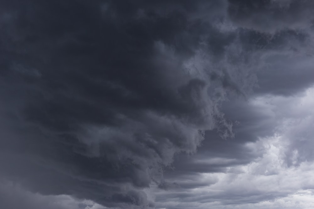 gray cloud formation