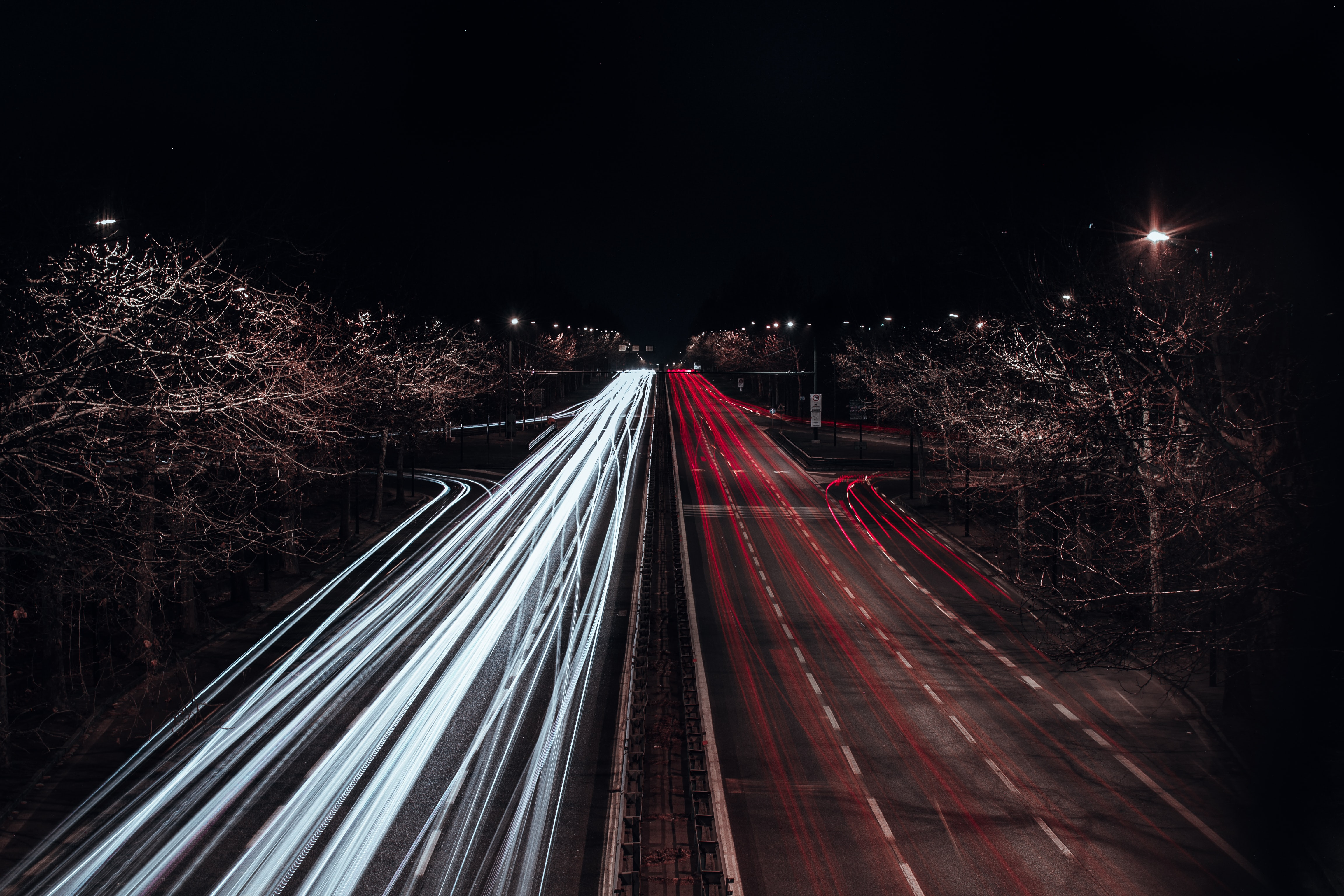 timelapse photography of cars during nighttime