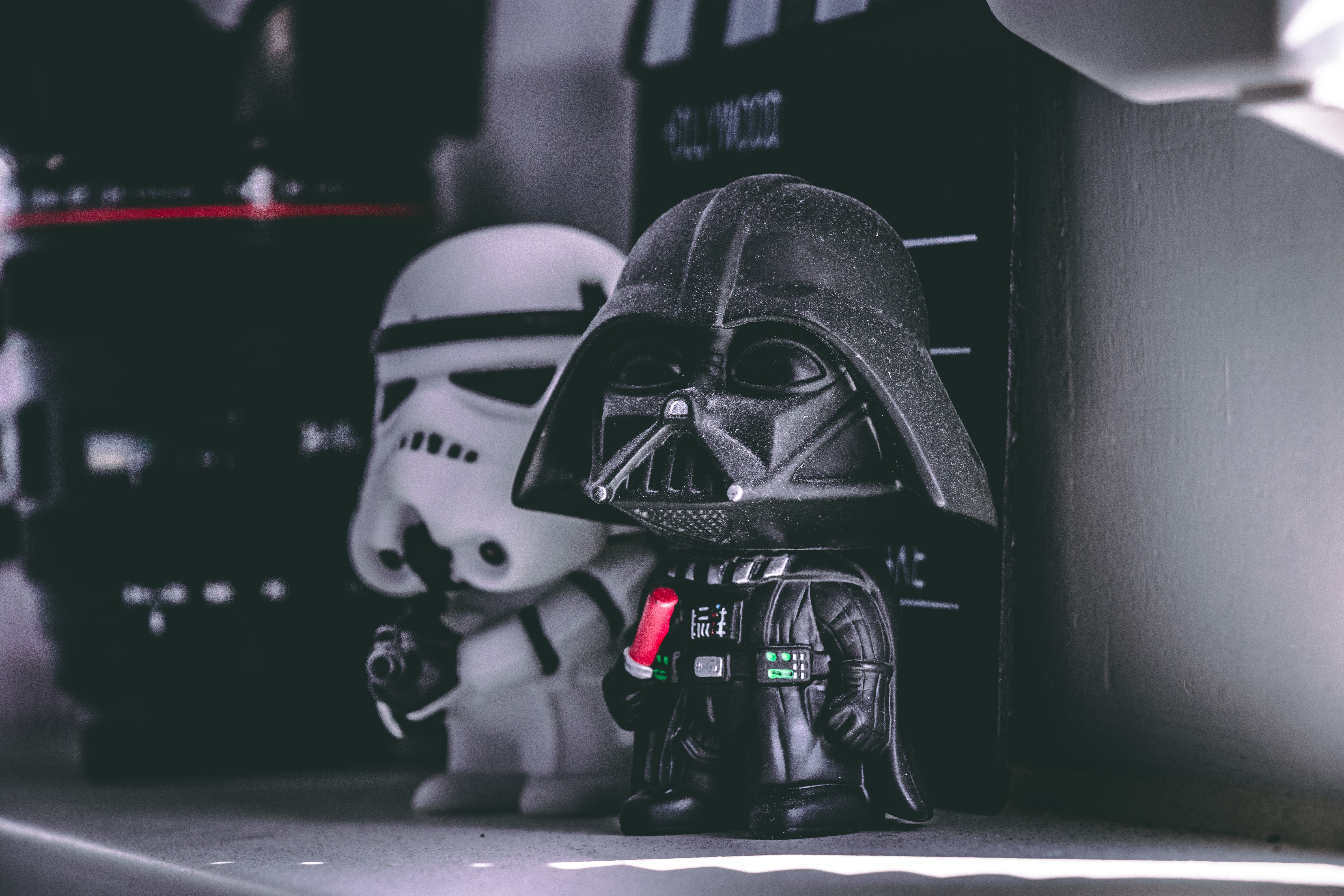 Star Wars Darth Vader and Storm Trooper figurine