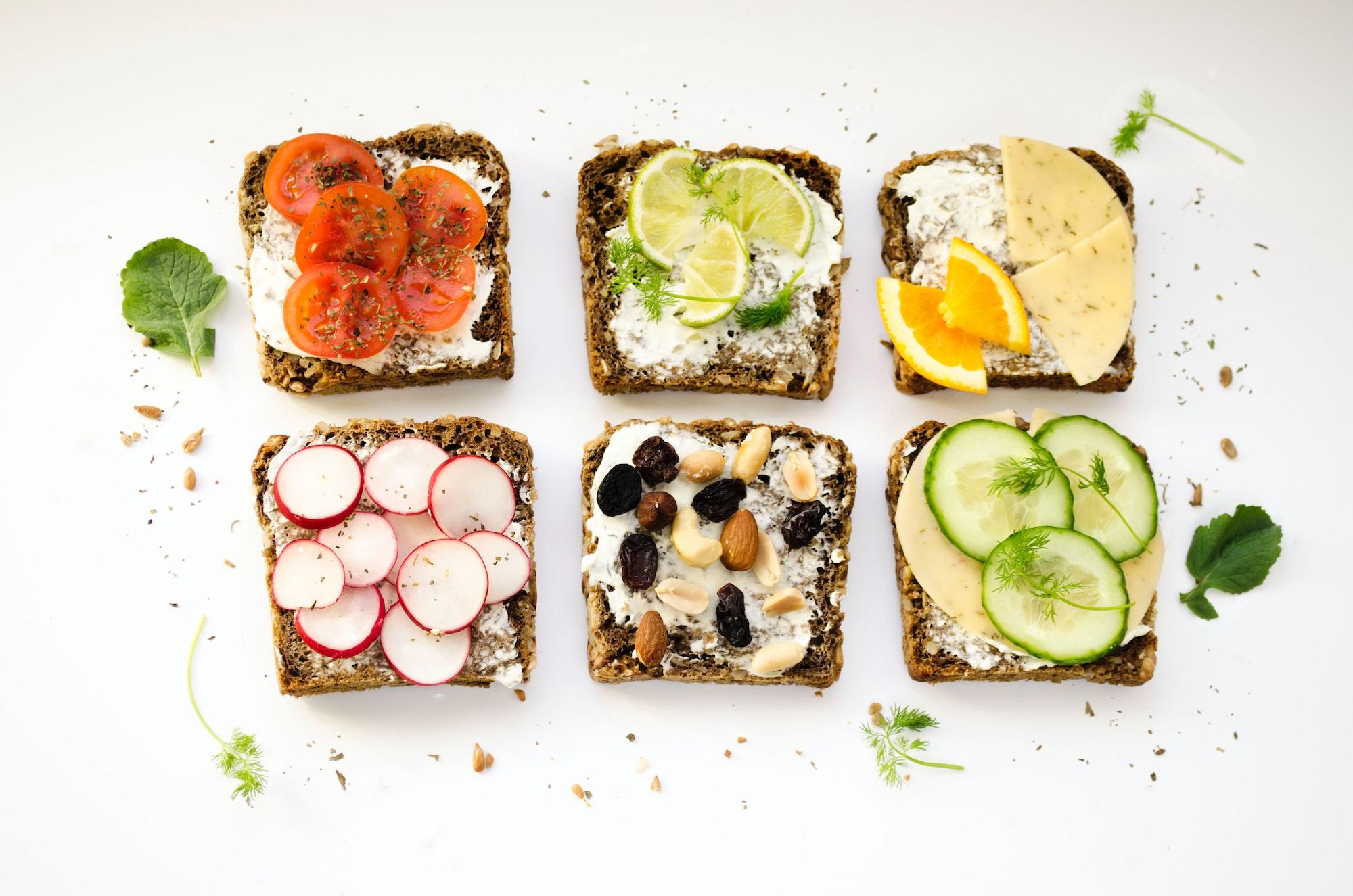 bright sandwiches