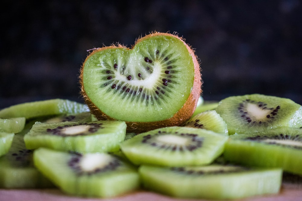 sliced Kiwi fruit