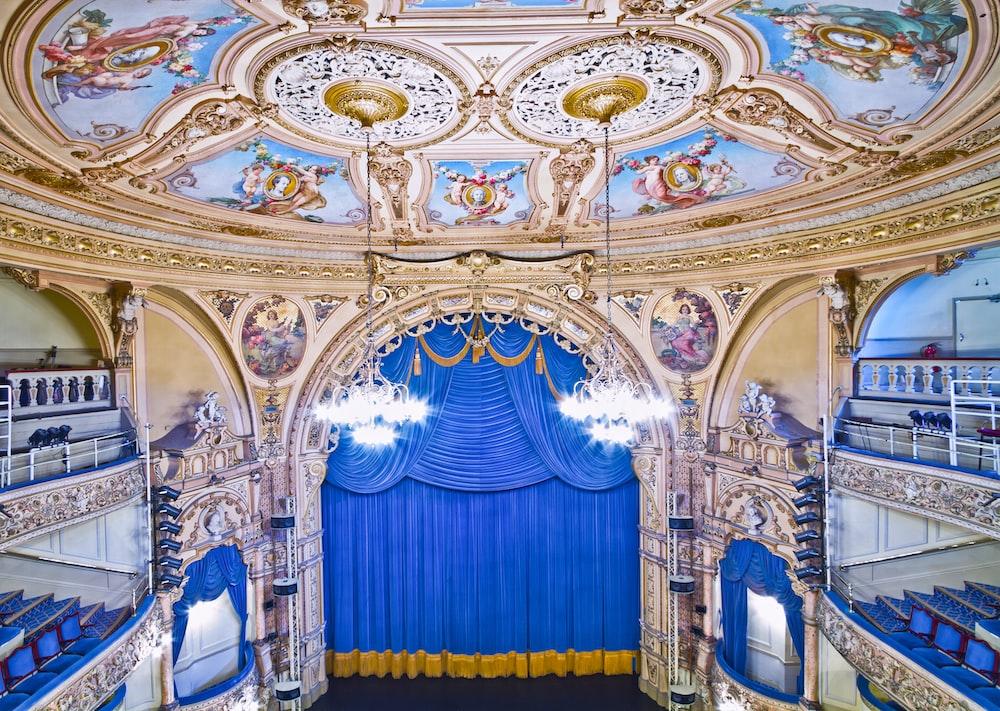 multicolored theater interior