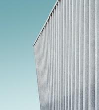 closeup photo of gray louver panel