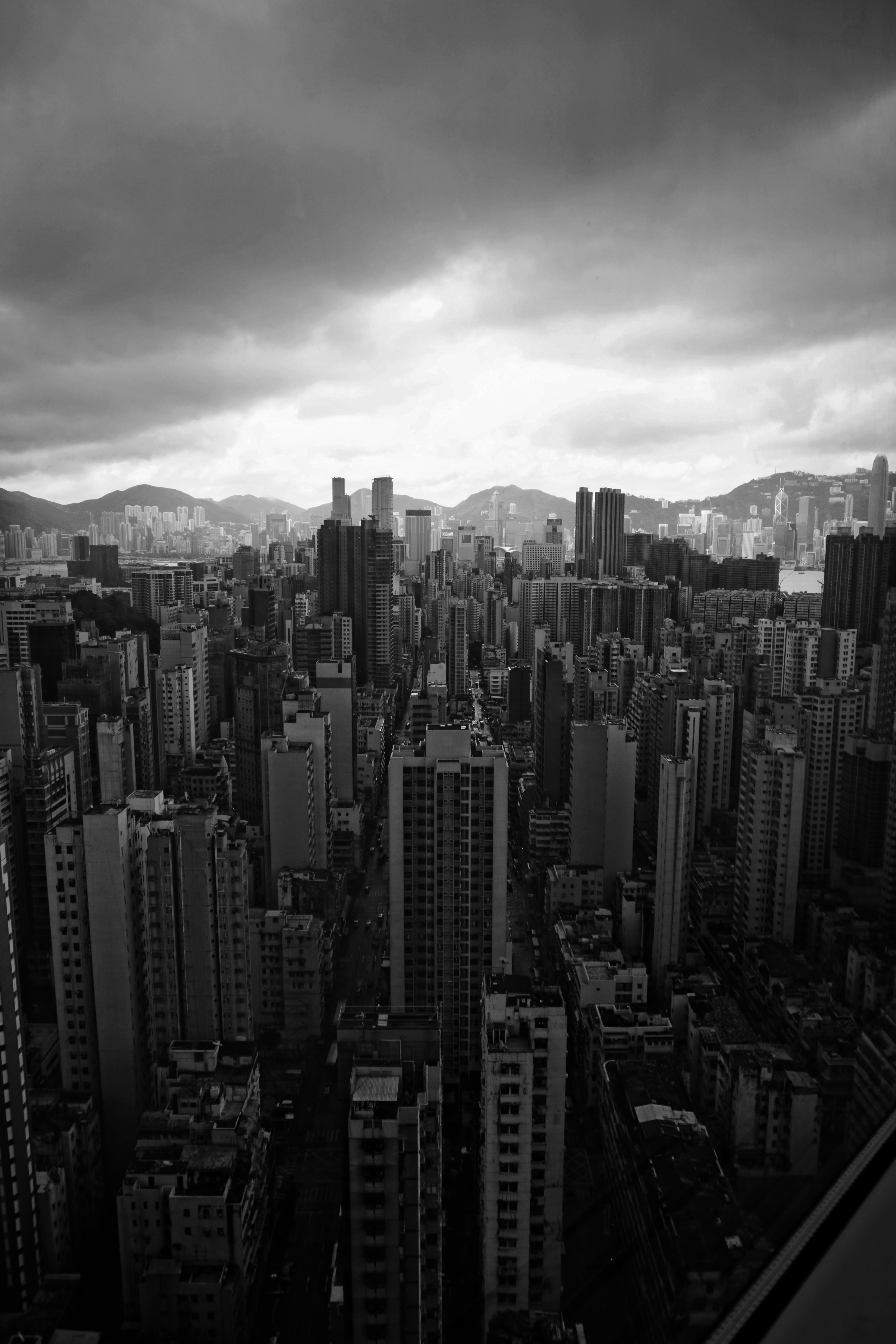 aerial grayscale photography of cityscape \