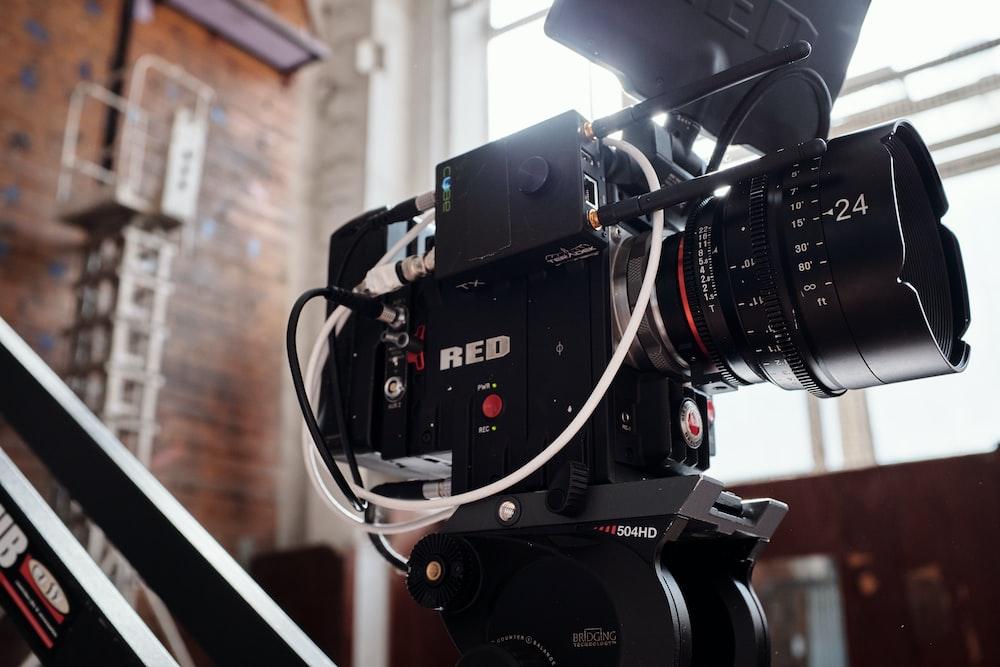 black RED-brand camera