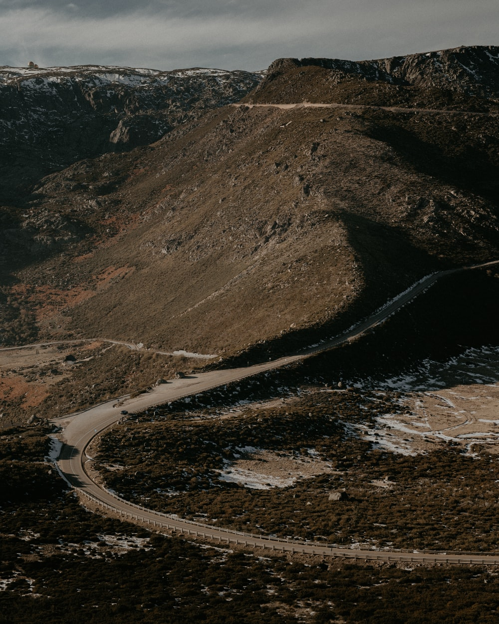 gray hairpin curve
