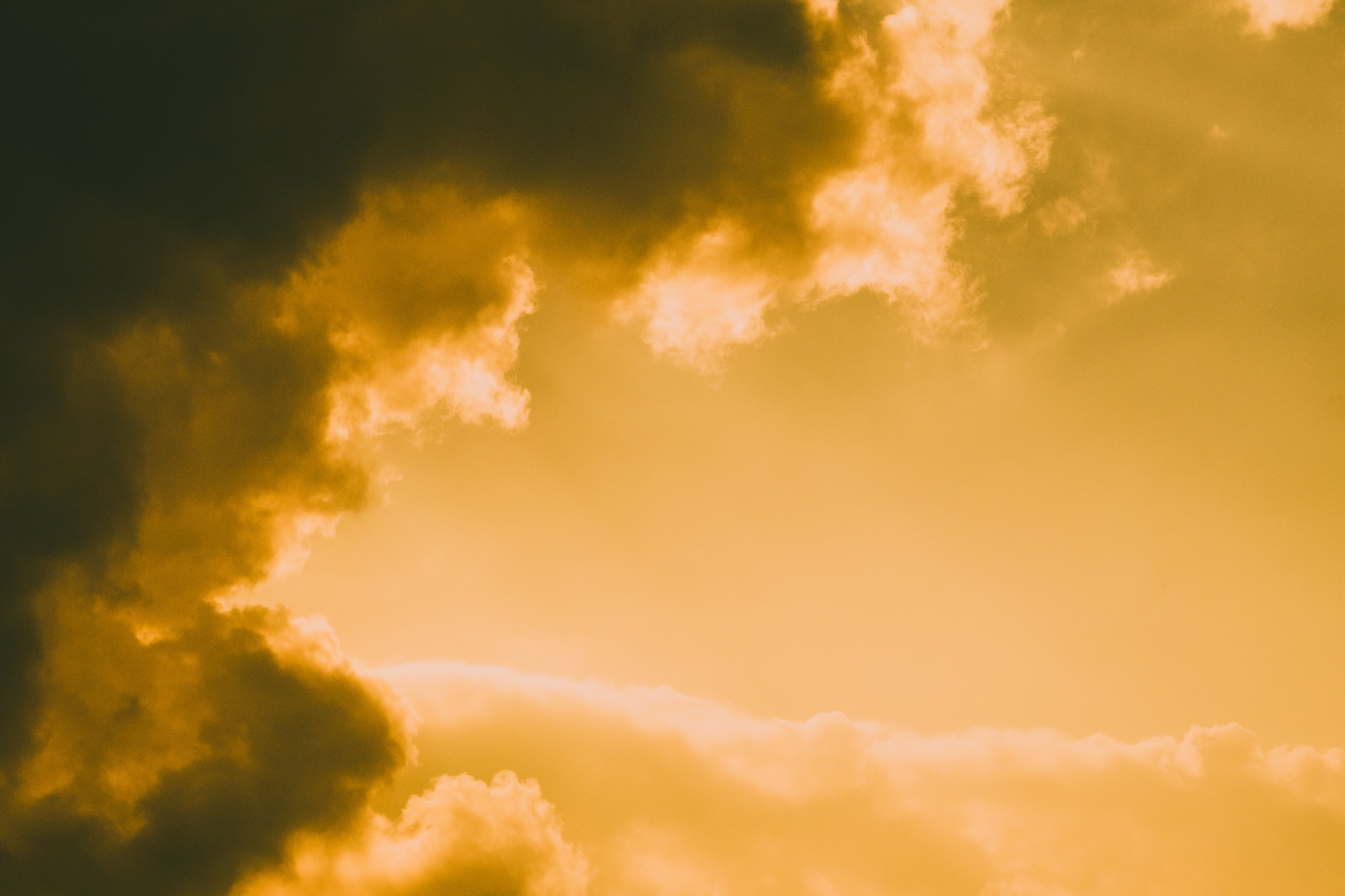 photo of clouds at golden hour