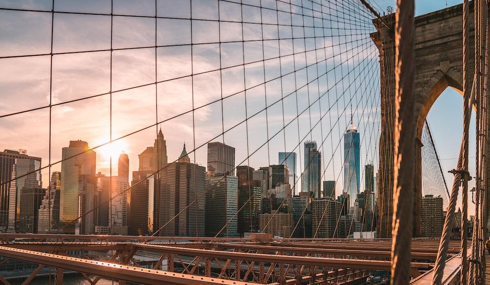 Brooklyn Bridge during golden hour