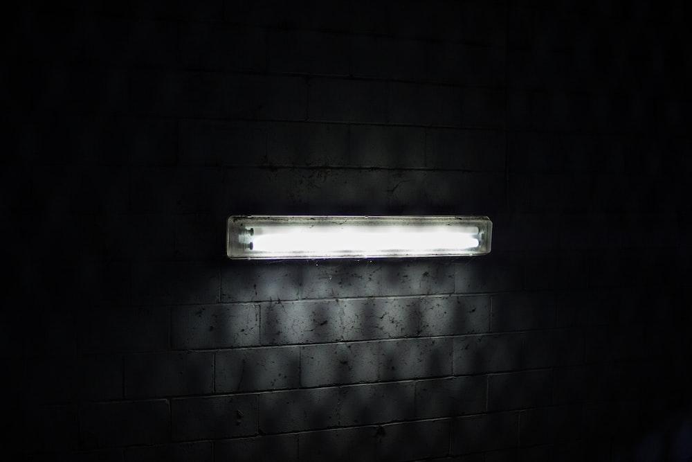 white fluorescent light turned on