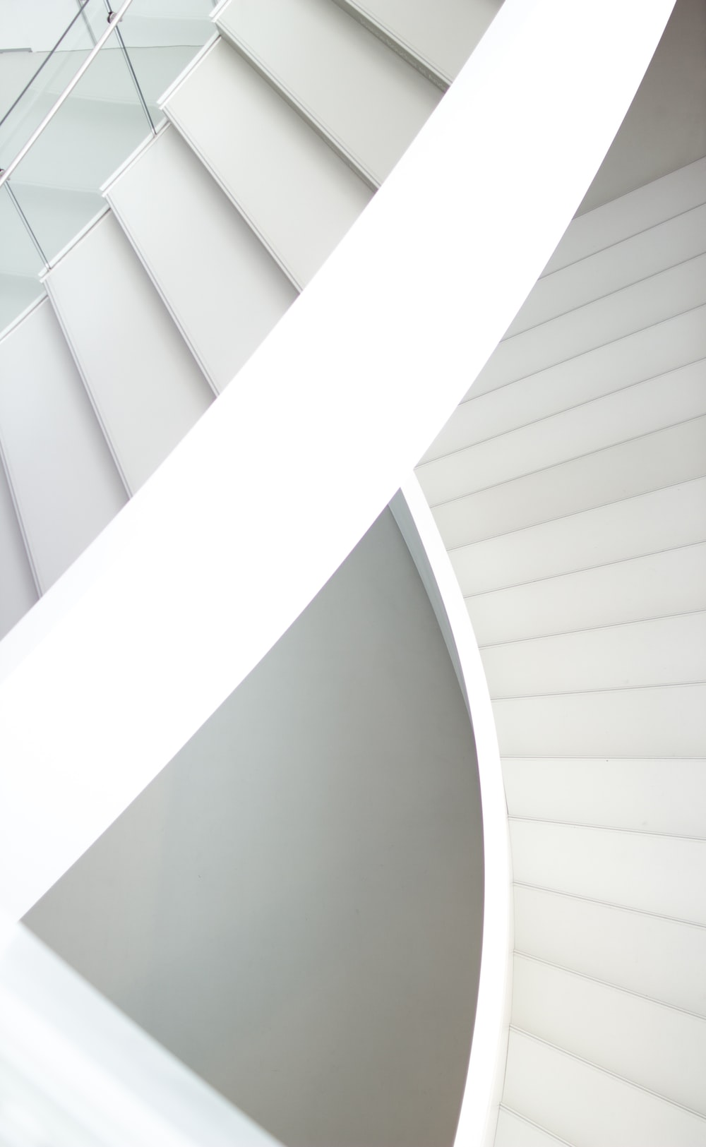 aerial photography of spiral stairs