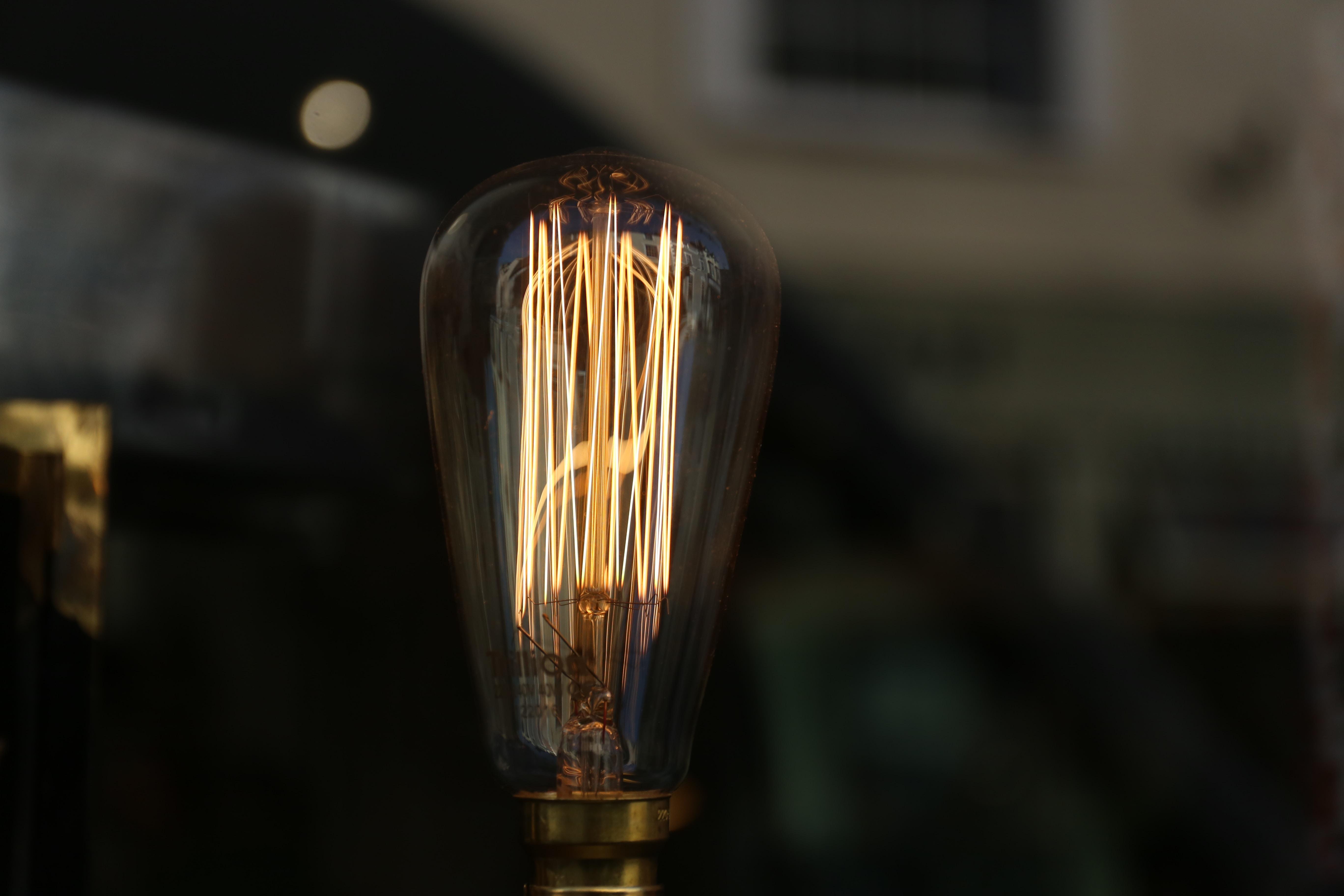 incandescent bulb turned off