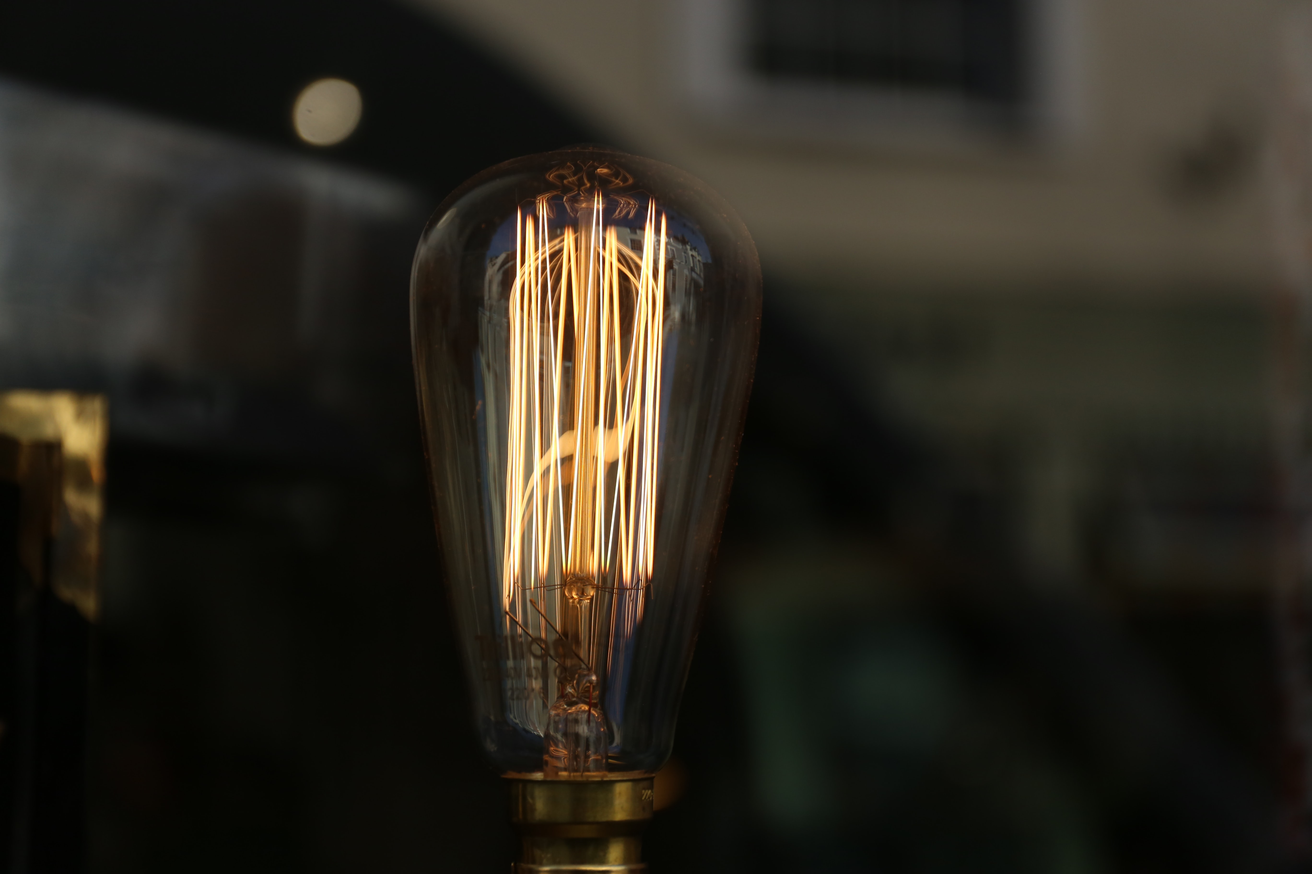 incandescent bulb turned off