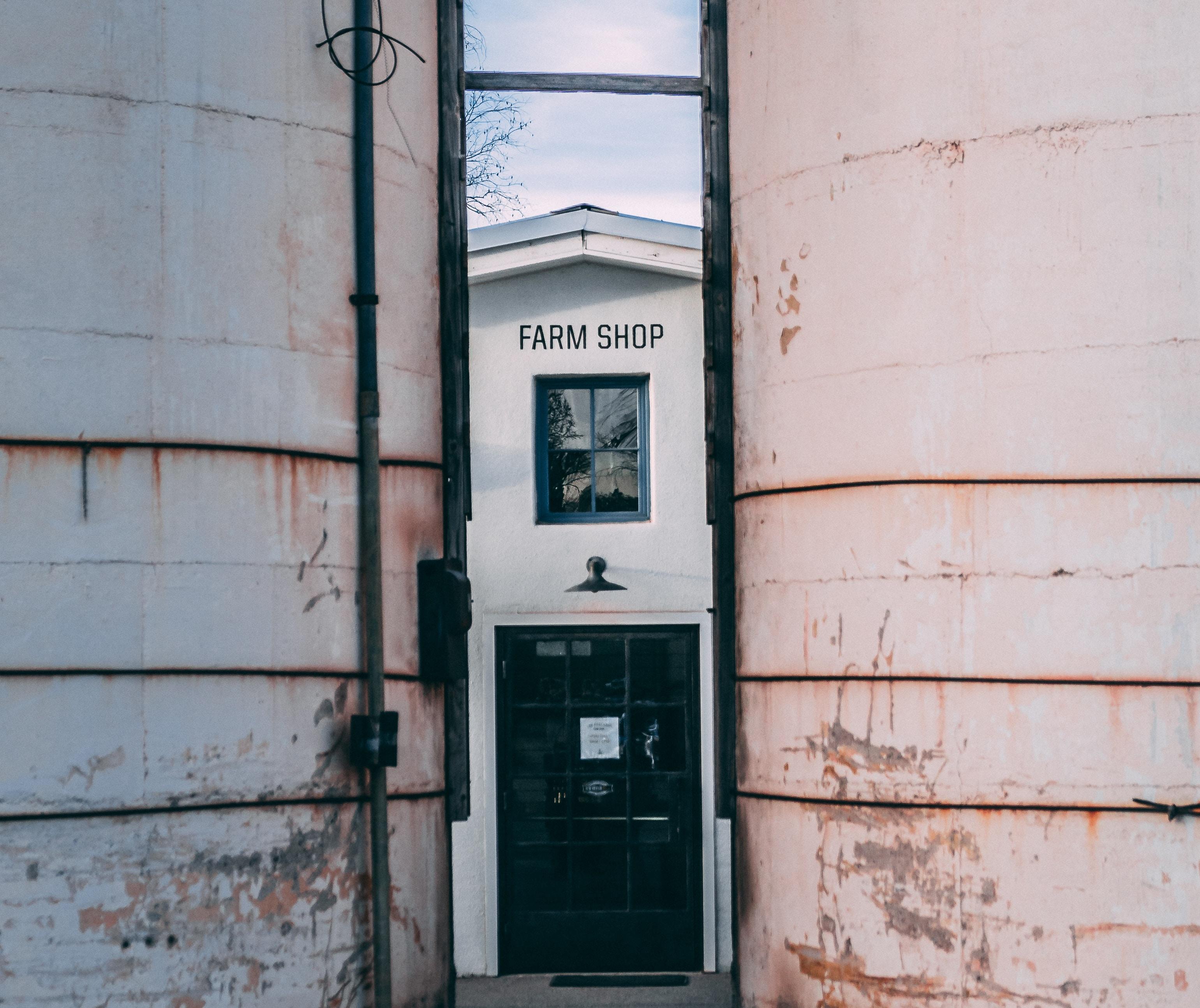 black Farm Shop door closed