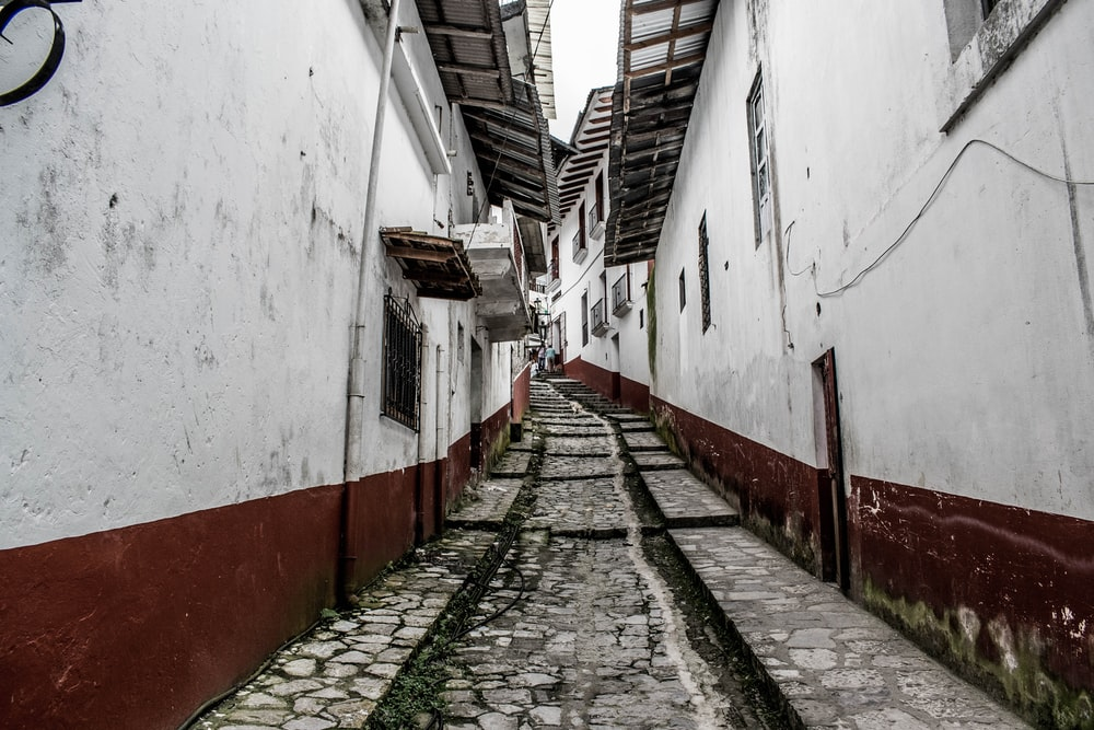 view of an alley